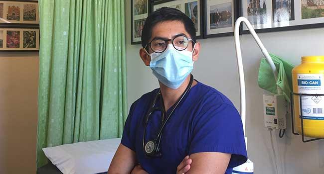 Dr Asiel Sanchez in their practice.