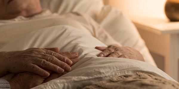 elderly person in nursing home