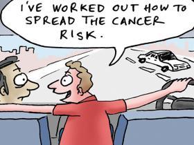 cartoon on cancer risk