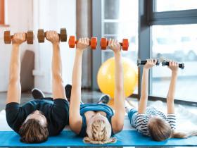 exercising family