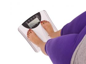 Woman on scales