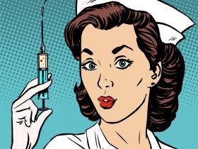injection retro nurse
