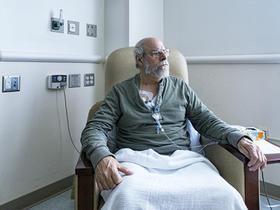 Man having chemotherapy