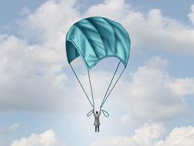 Doctor with parachute