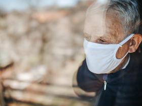Elderly patient in pandemic