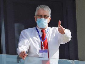 Professor Dominic Dwyer in Wuhan.