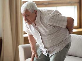 senior man with back pain