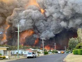 Bushfires at Harrington. Photo: Kelly-ann Oosterbeek