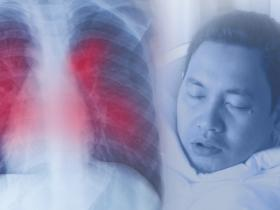 Patient and chest X-ray signifying coronavirus