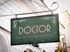 Doctor surgery sign