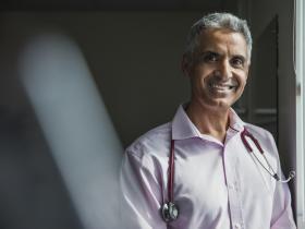 Happy IMG doctor