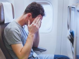 Headache on plane