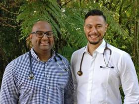 Dr Sanjeev Krishna (L) and Dr Canaan Aumua (R).