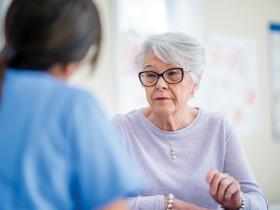 Senior woman consult