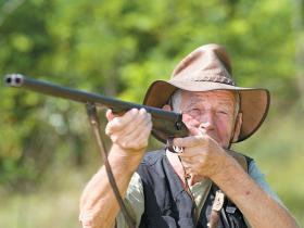 Farmer shotgun shooting
