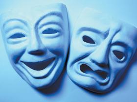 Bipolar tragedy comedy masks