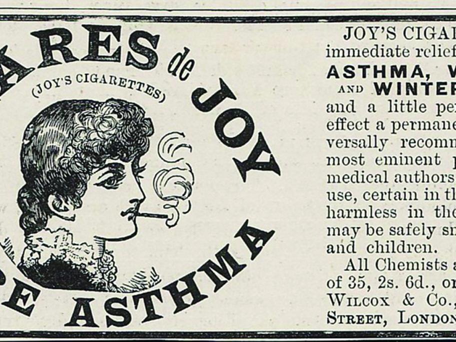 Asthma cigarette ad