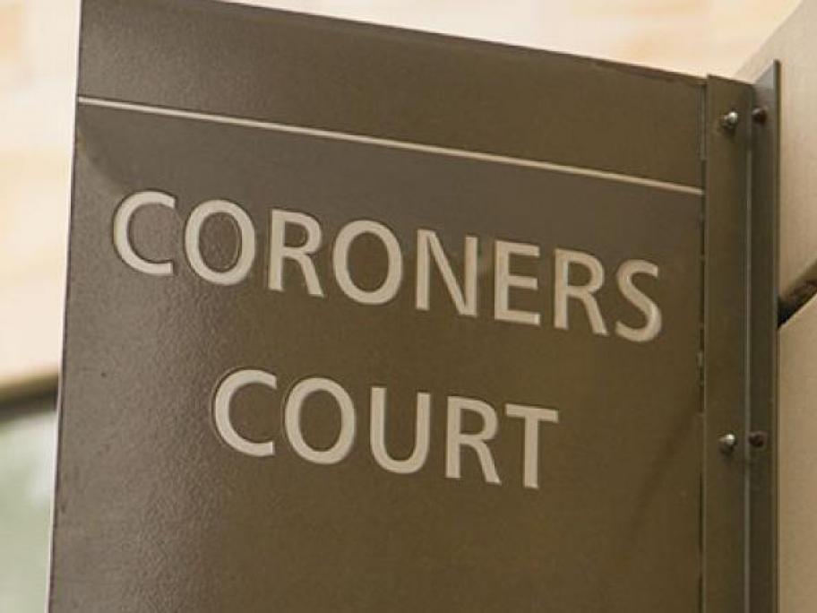 Coroners court sign