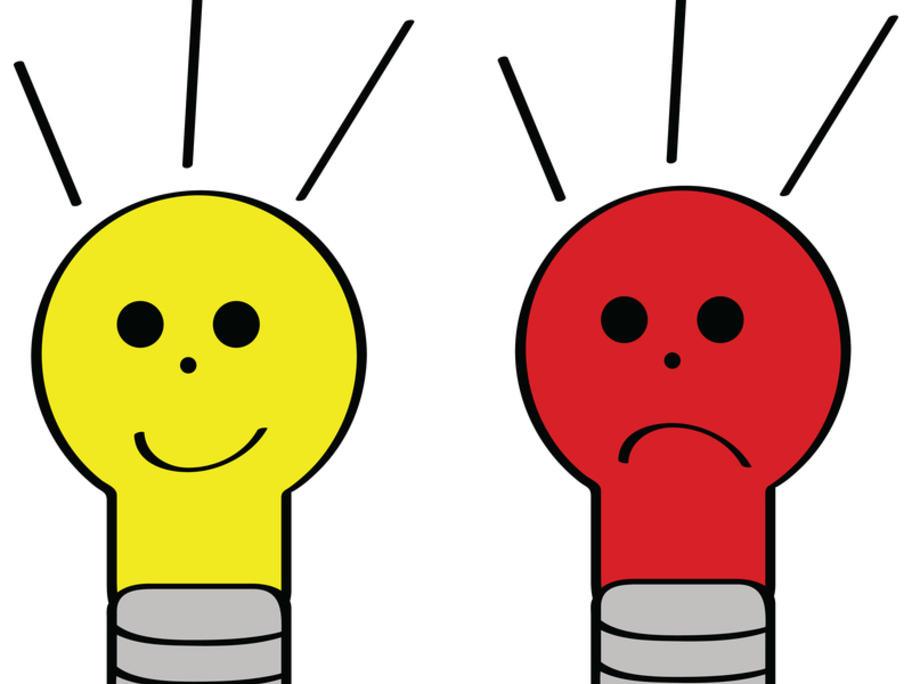good idea bad idea concept