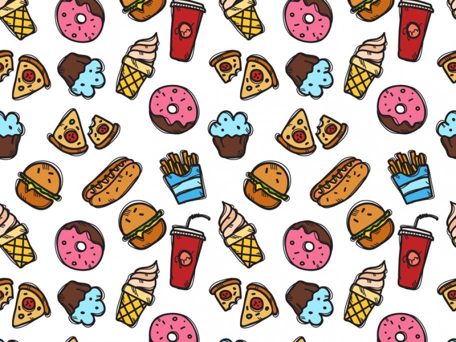 Junk food illustration