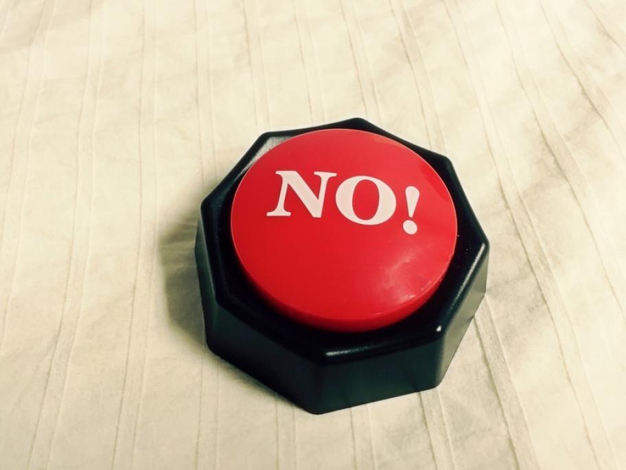No button