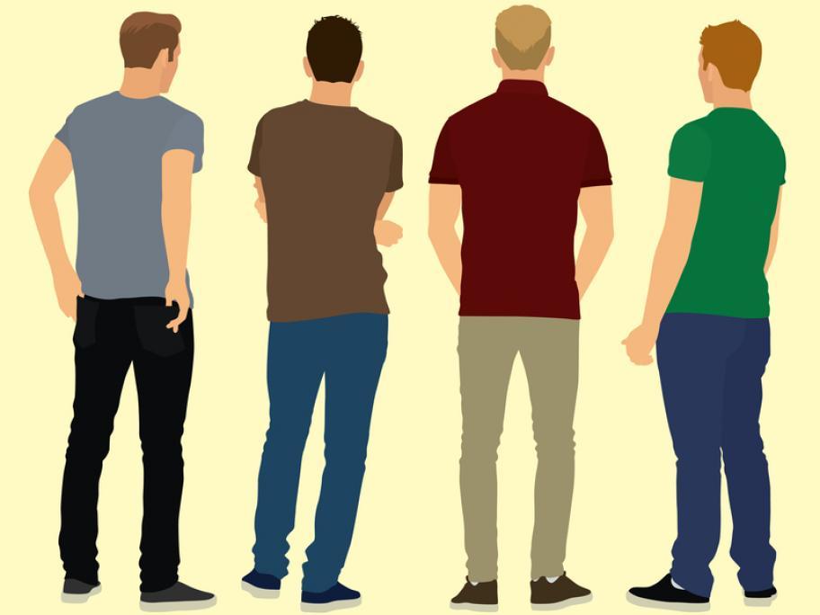 Young men illustration