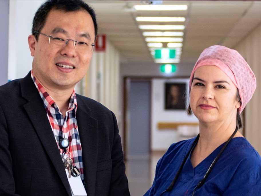 Dr Michael Ee and Dr Amy Jeeves