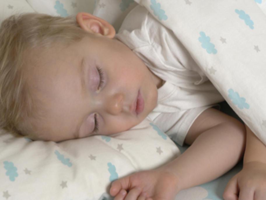 little boy aged 2-3 years asleep