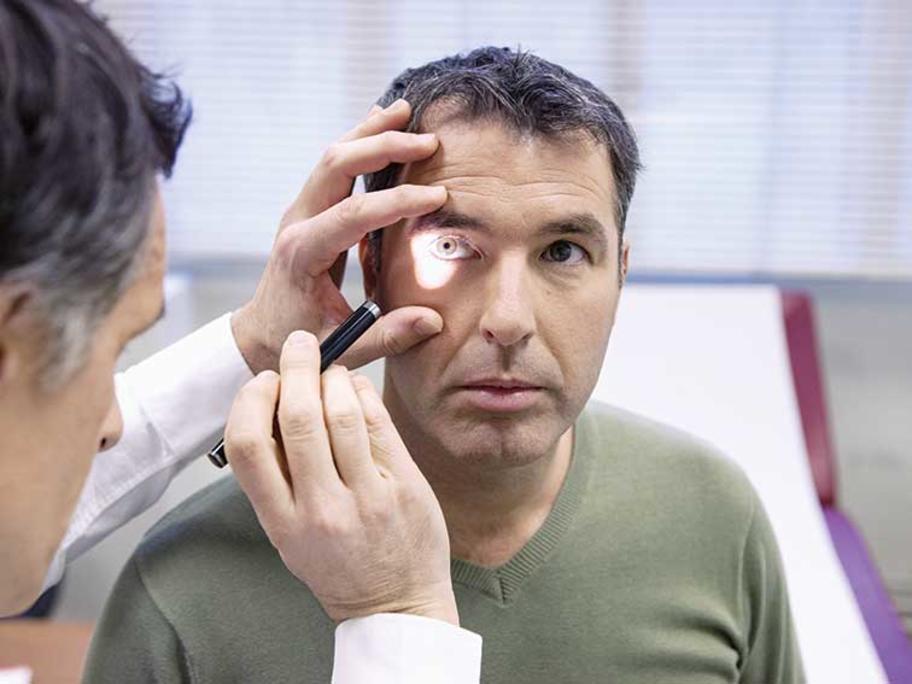 checking pupils