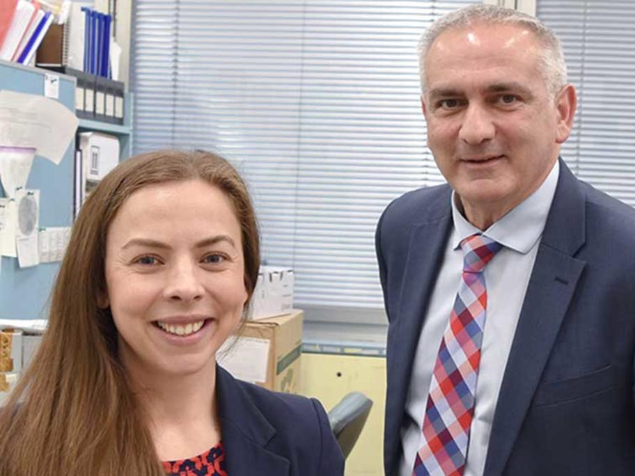 Cardiologists, Dr Julia Isbister and Professor Christopher Semsarian