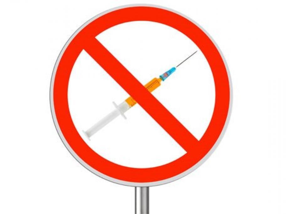 anti-vax symbol