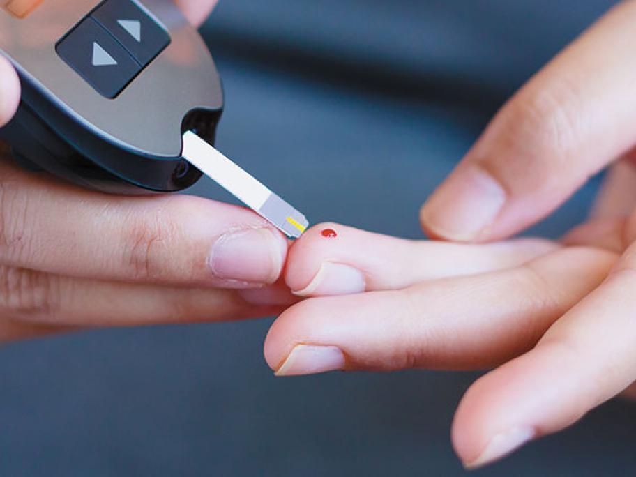 diabetes fingerprick