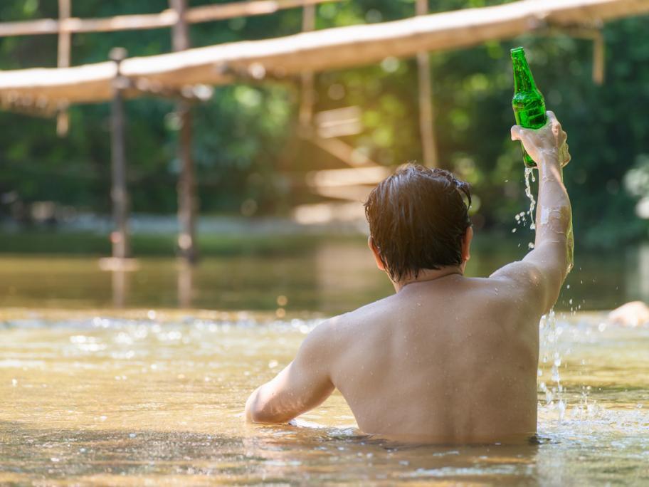 Alcohol swimming