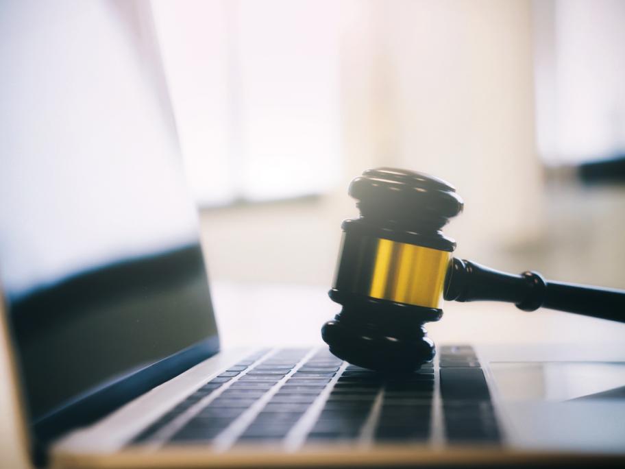 Law, laptop