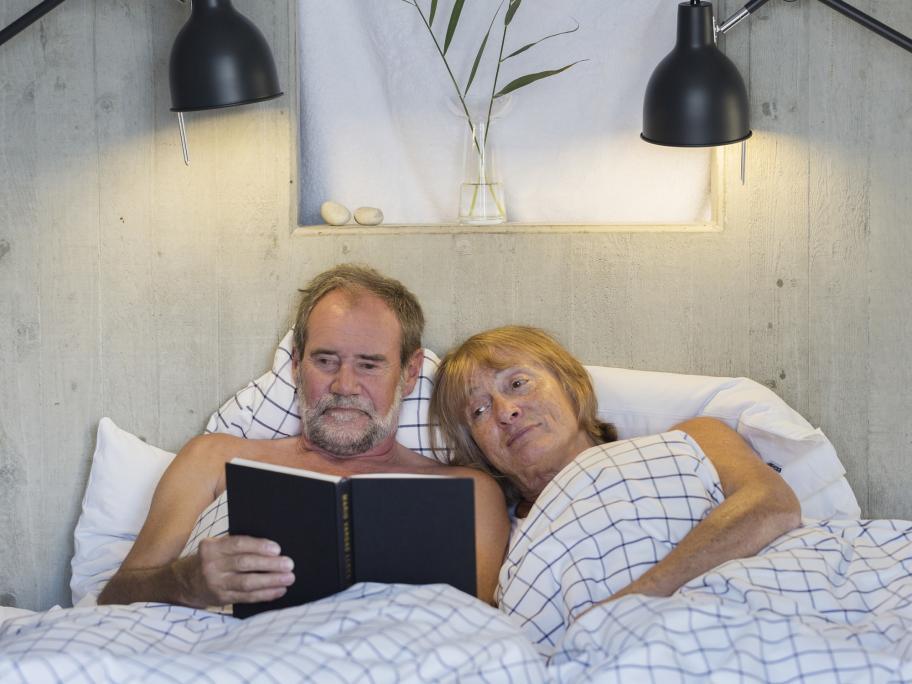 older people in the bedroom