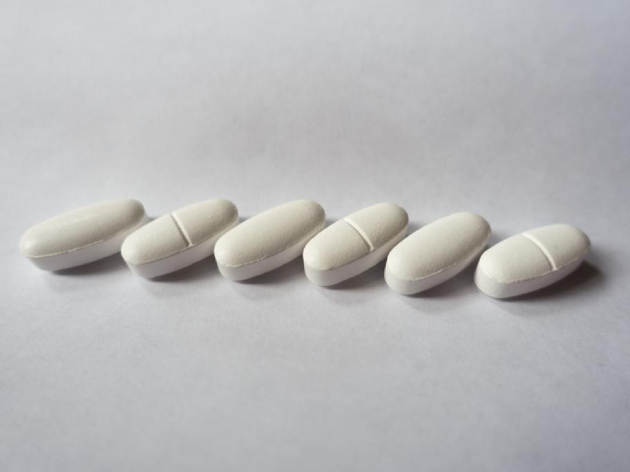 oval white tablets - suggesting antihypertensives