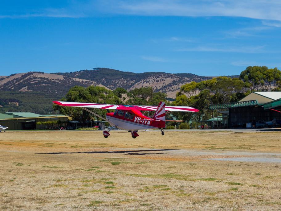 Plane in rural setting