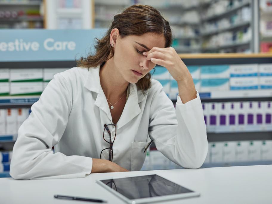 Stressed pharmacist