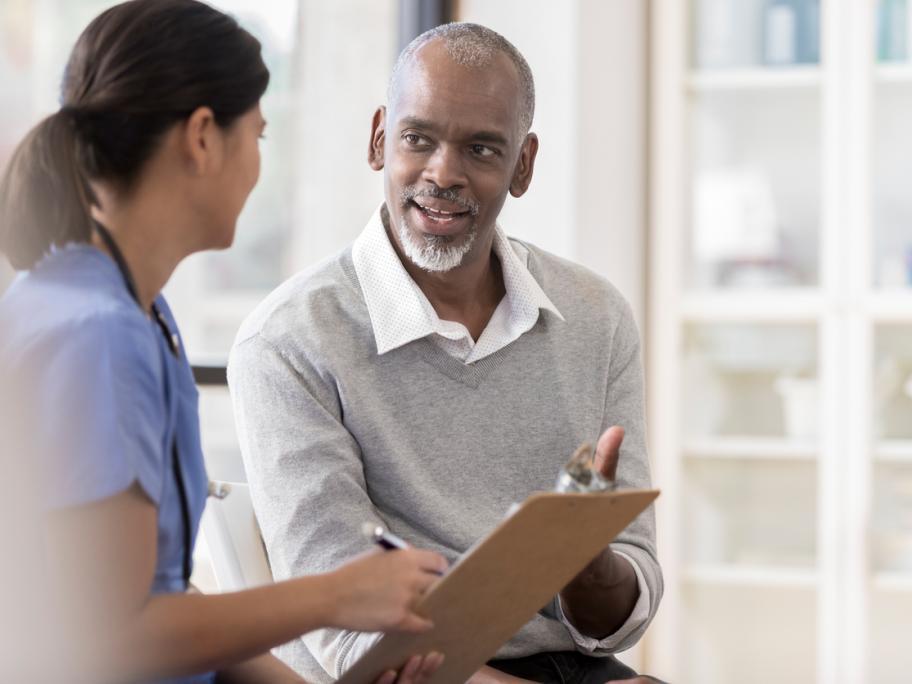 Patient talking