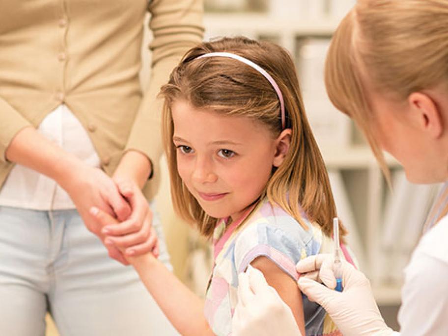 girl receiving vaccination