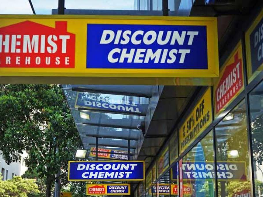 chemist warehouse sign