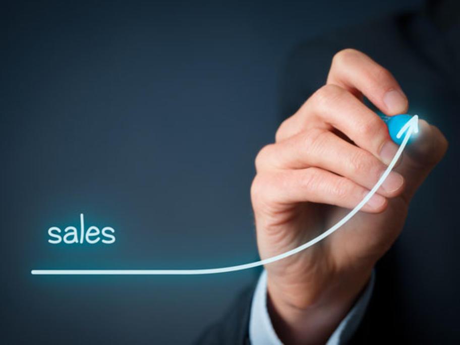 sales trending up