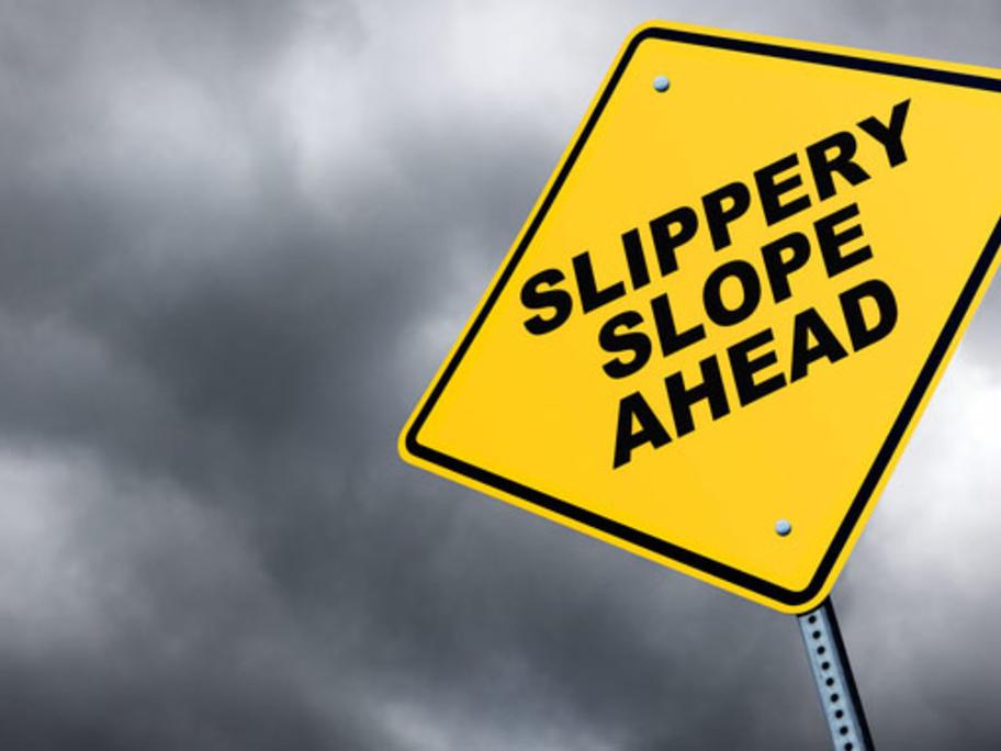slippery slope concept