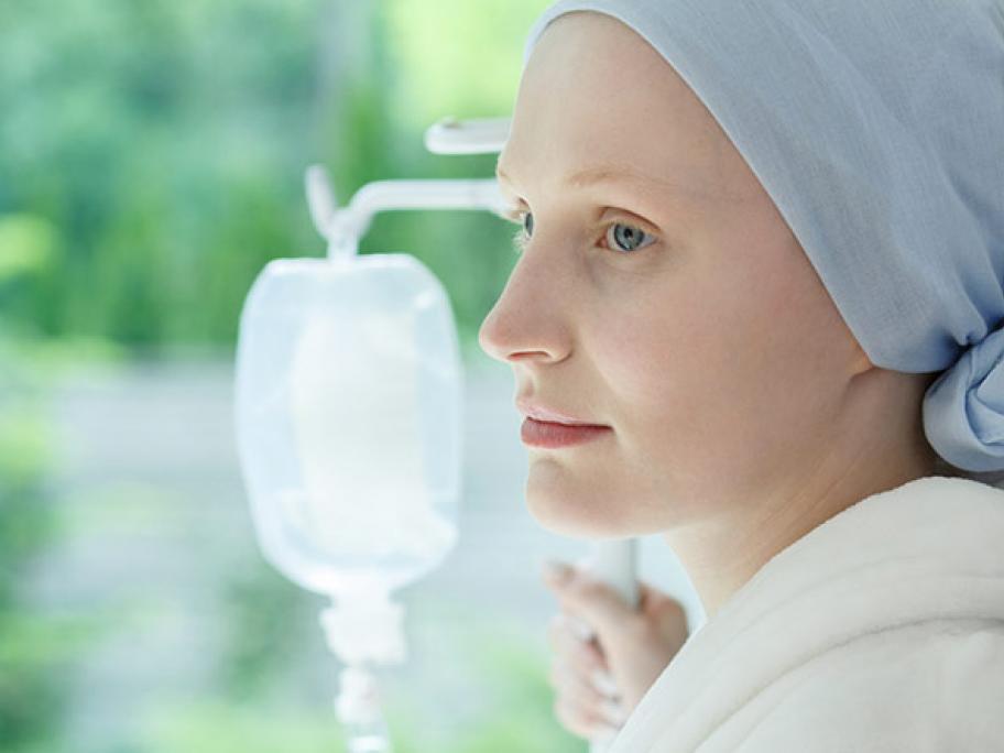 Woman having chemo