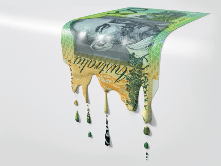 money dripping