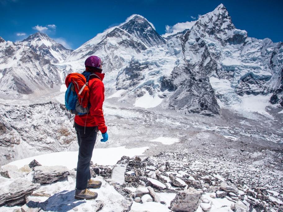 Woman in Himalayas