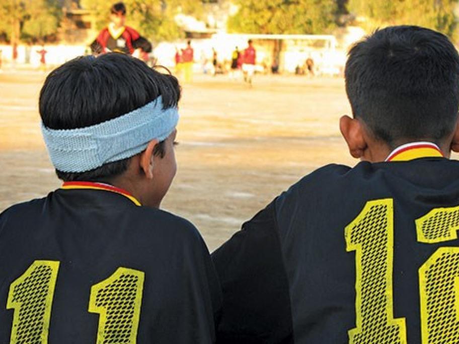 kids on the sports field