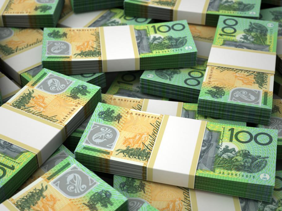 piles of 100 dollar bills